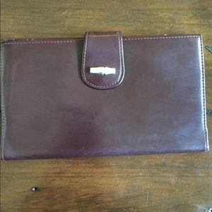 Vintage Longchamp women's wallet.